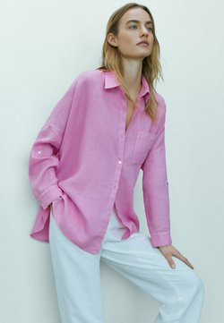 Massimo Dutti - Koszula - neon pink