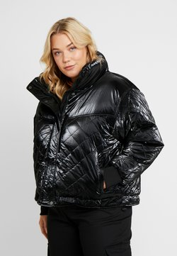Urban Classics Curvy - LADIES VANISH DIAMOND QUILT JACKET - Winterjacke - black