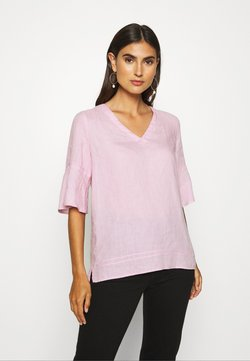 Marc O'Polo - BLOUSE VNECK - Bluse - bleached berry