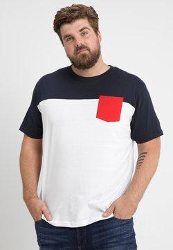 Urban Classics - TONE POCKET TEE - T-shirt basic - white/navy/firered