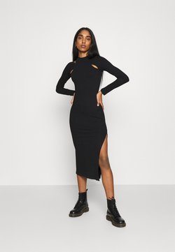 Topshop - CUT OUT COLUMN - Jerseykleid - black