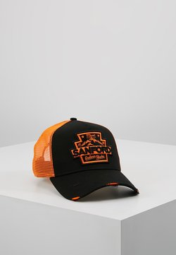 New Era - DISTRESSED TRUCKER PACK - Lippalakki - black