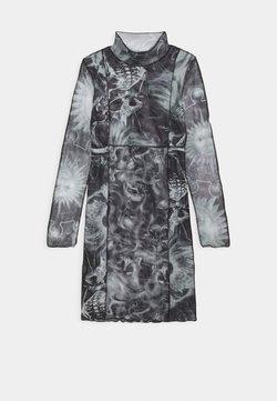 NEW girl ORDER - SPLICED BODYCON DRESS - Day dress - black/white