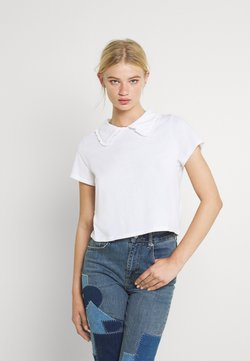 Cotton On - COLLAR TEE - T-shirt con stampa - white