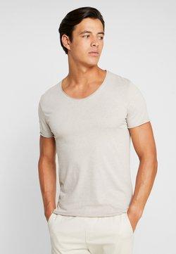 Selected Homme - SLHNEWMERCE O-NECK TEE - T-shirt basic - dove melange