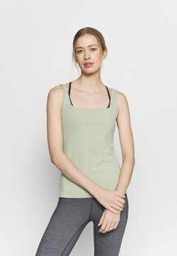 Nike Performance - THE YOGA LUXE TANK - Topper - celadon/olive aura