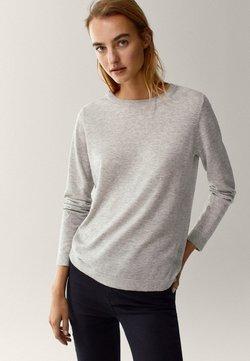 Massimo Dutti - Sweter - light grey