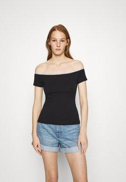 Calvin Klein Jeans - LOGO TRIM BARDOT - T-Shirt print - black