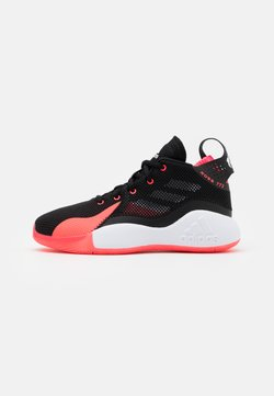 adidas Performance - ROSE BOUNCE SPORTS BASKETBALL SHOES UNISEX - Basketball shoes - core black/footwear white/signal pink