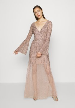 Maya Deluxe - EMBELLISHED V NECK MAXI DRESS - Robe de cocktail - taupe blush