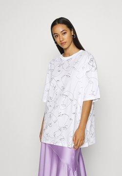 Monki - CISSI TEE  - Printtipaita - white