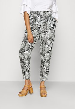 Simply Be - CRINKLE TROUSERS - Stoffhose - black