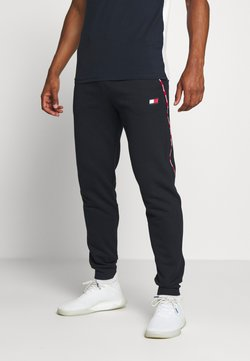 Tommy Sport - PIPING CUFFED PANT - Jogginghose - blue
