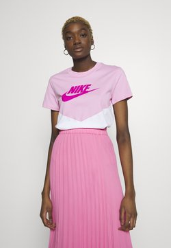 Nike Sportswear - T-Shirt print - pink rise/white