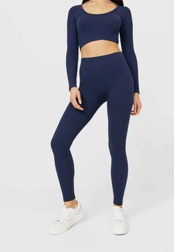 Stradivarius - NAHTLOSE - Legging - dark blue