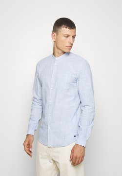 TOM TAILOR DENIM - COTTON SLUB SHIRT WITH TURN UP - Camisa - blue younder