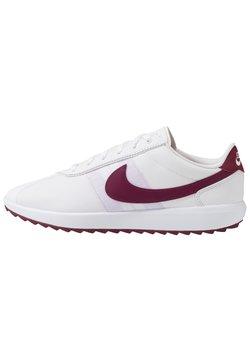 Nike Golf - CORTEZ - Golfschoenen - white/villain red/barely grape/plum dust