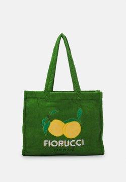 Fiorucci - LA PESCA TOWELLING TOTE BAG UNISEX - Shopping bag - green