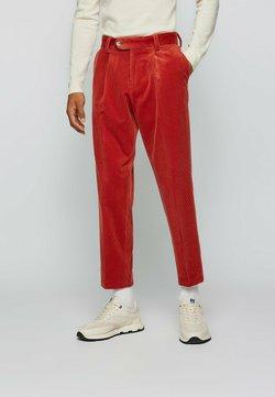 BOSS - PERIN PLEAT - Trousers - red