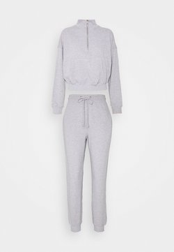 Missguided Petite - ZIP JOGGER SET - Jogginghose - grey