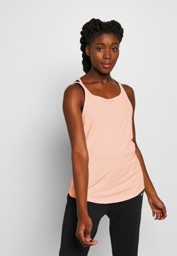 Nike Performance - YOGA STRAPPY TANK - Funktionströja - washed coral