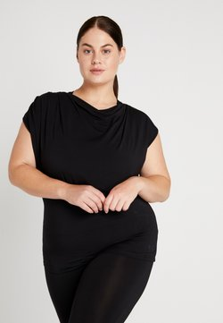 YOGA CURVES - WATERFALL - Camiseta básica - black