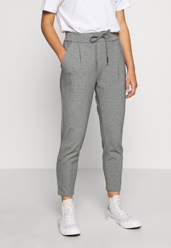 Vero Moda Petite - VMEVA LOOSE STRING PANTS - Trousers - medium grey melange