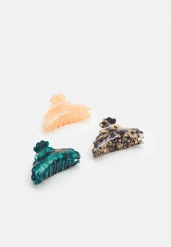 ONLY - ONLHANNAH HAIR CLIP 3 PACK - Hårstyling-accessories - dusty rose/blue spruce/cognac