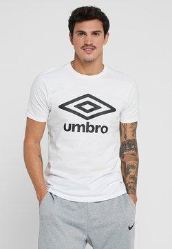 Umbro - LARGE LOGO TEE - T-shirt con stampa - white