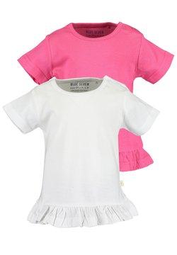 Blue Seven - MINI MD T-SHIRT - 2ER PACK - T-shirt print - weiss pink