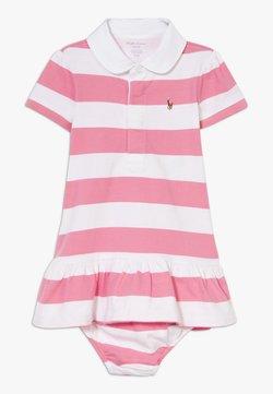 Polo Ralph Lauren - RUGBY STRIPE DRESSES  - Vestido ligero - pink multi