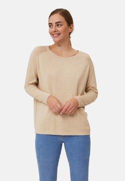 Lexington - Stickad tröja - light beige melange