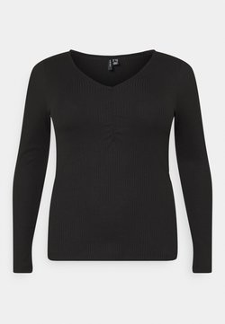 Vero Moda Curve - VMPOLLY TOP CURVE - Camiseta de manga larga - black
