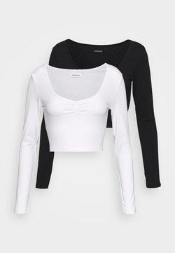 Even&Odd Petite - 2 PACK - Pitkähihainen paita - black/white