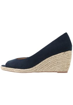 Dorothy Perkins - DAMSEL PEEPTOE WEDGE - Peeptoes - navy