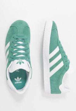 adidas Originals - GAZELLE - Sneaker low - future hydro/footwear white/gold metallic
