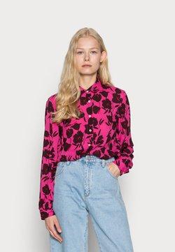 Emily van den Bergh - BLOUSE - Hemdbluse - pink/bordeaux