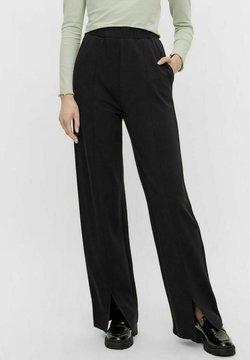 Pieces - Spodnie materiałowe - black