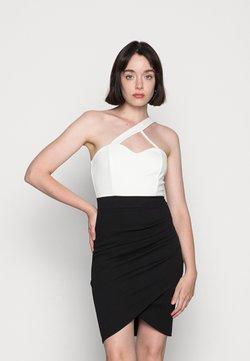 WAL G. - FANTASIA FRONT BODYCON DRESS - Trikoomekko - black/white