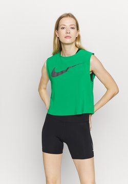 Nike Performance - RUN TANK PLEATED - Camiseta de deporte - lucky green/black