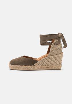 Unisa - CANDIDA - Platform sandals - salvia