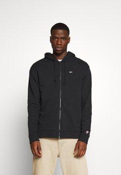 Tommy Jeans - CLASSICS ZIPTHROUGH - veste en sweat zippée - black