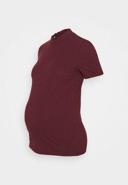 Pieces Maternity - PCMKYLIE T-NECK - T-shirt imprimé - red mahogany