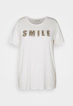 Kaffe Curve - KCEMMATI - T-Shirt print - chalk