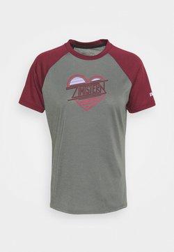 Zimtstern - HEARTZ TEE - T-Shirt print - gun metal/windsor wine