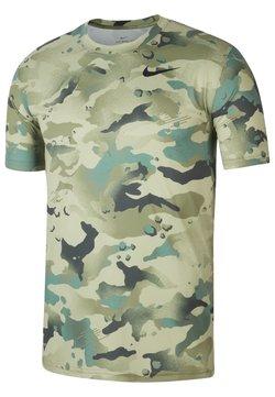 Nike Performance - DRY TEE - T-Shirt print - mystic stone black