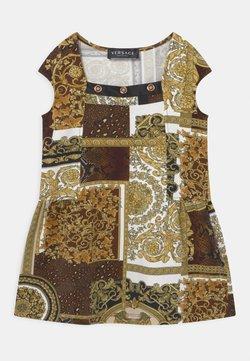 Versace - PATCHWORK HERITAGE ANIMALIER - Jerseykleid - gold/brown/white