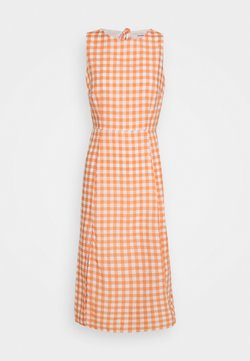 Glamorous - PALOMA OPEN BACK MIDI DRESS - Kjole - orange gingham