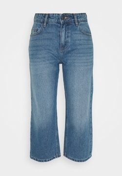 Noisy May Petite - NMAMANDA WIDE ANKLE  - Relaxed fit jeans - medium blue