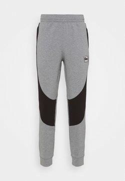 Puma - DIME PANT - Jogginghose - medium gray heather/black